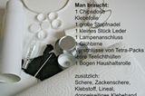 Materialien für weiße Dose