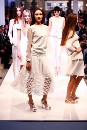 BRIGITTE Fashion Event: Pullover: Glaw Rock: Tibi Schuhe: Deichmann