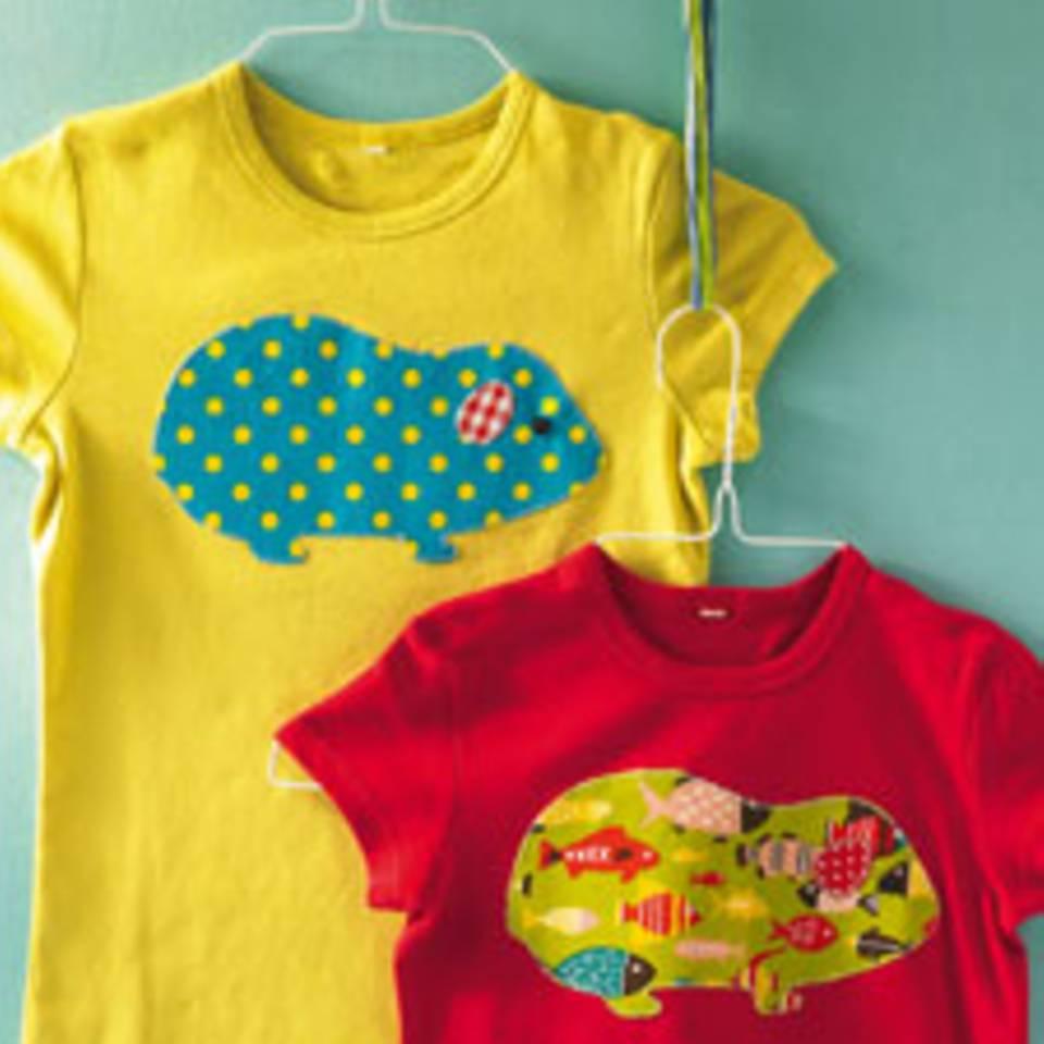 T-Shirt mit Aufnäher: Individuelles Oberteil für Kinder