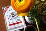 Buch, Blumen, Nutella