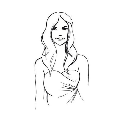 Offene Haare zum schulterfreien Kleid