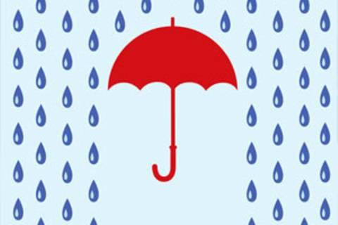 Schöne Regenschirme gegen das Aprilwetter