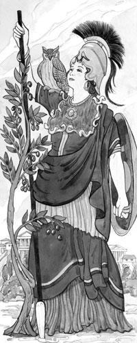 Wassermann: Athene - stolze Göttin der Weisheit, der Musen und der schönen Künste