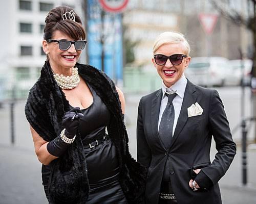 Audrey Hepburn meets Karl Lagerfeld