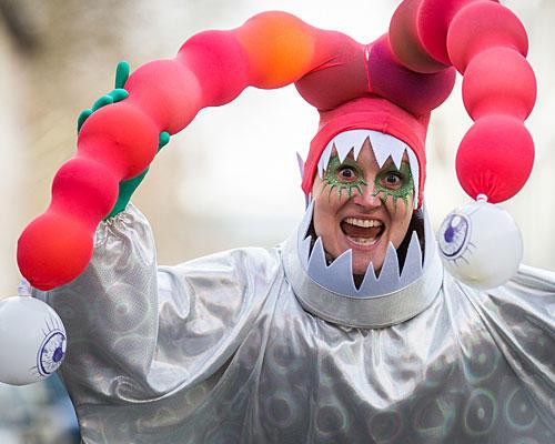 Das mehräugige Luftballon-Monster
