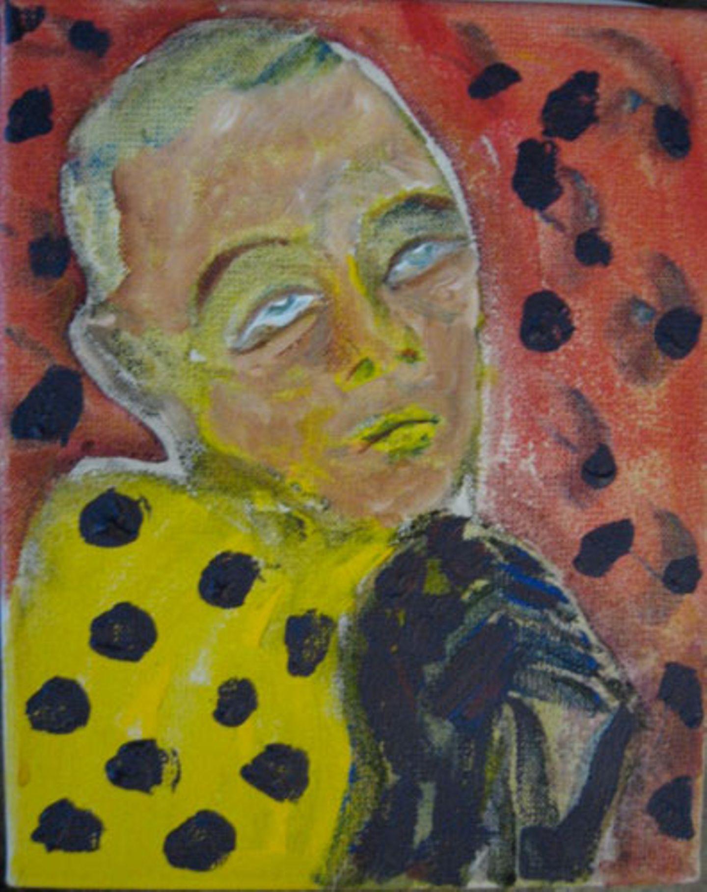 'Mona in Berlin', 1977 Acryl auf Leinwand, David Bowie