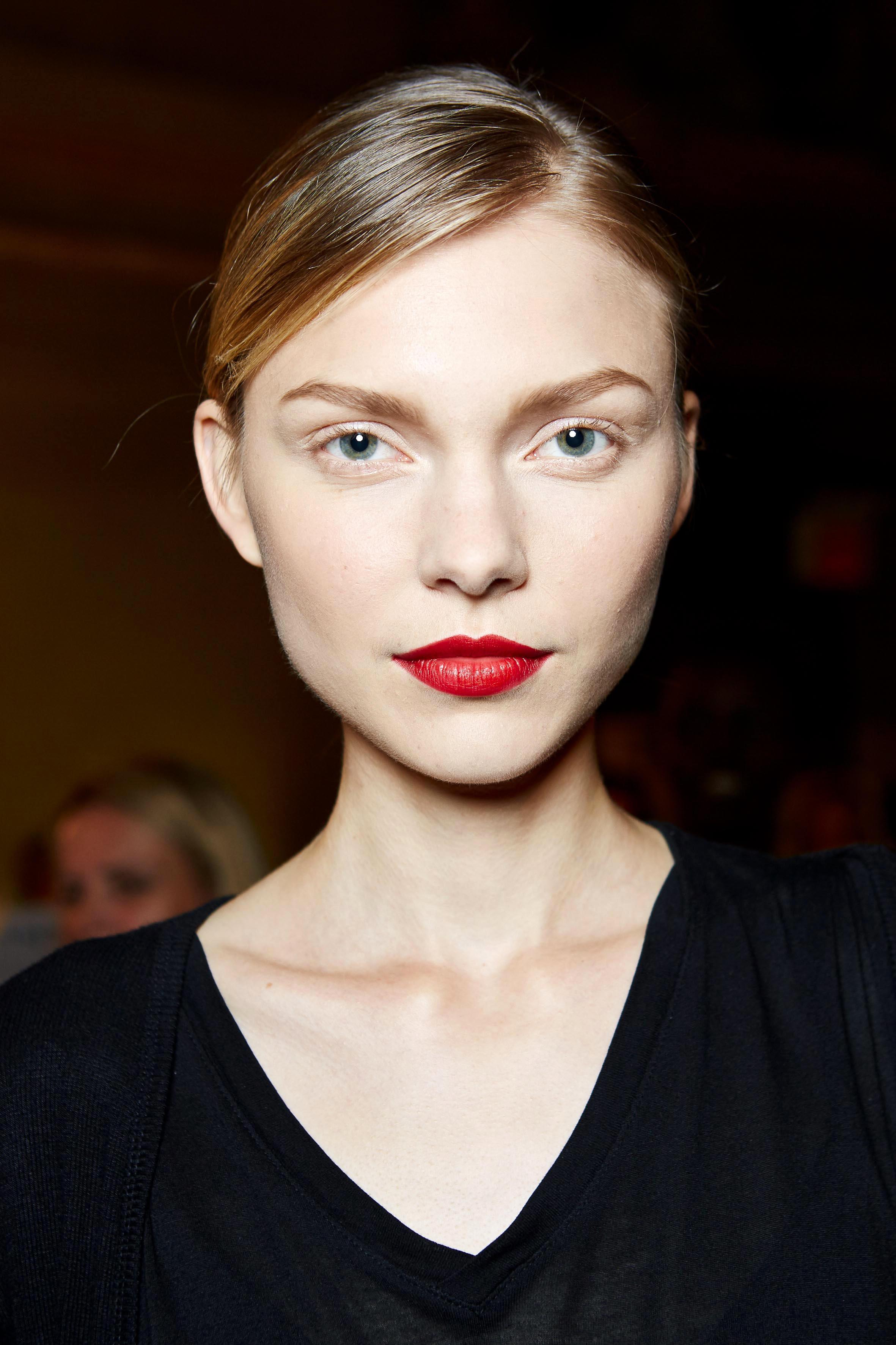 Make-up Trends 2017: Roter Lippenstift bei Zac Posen
