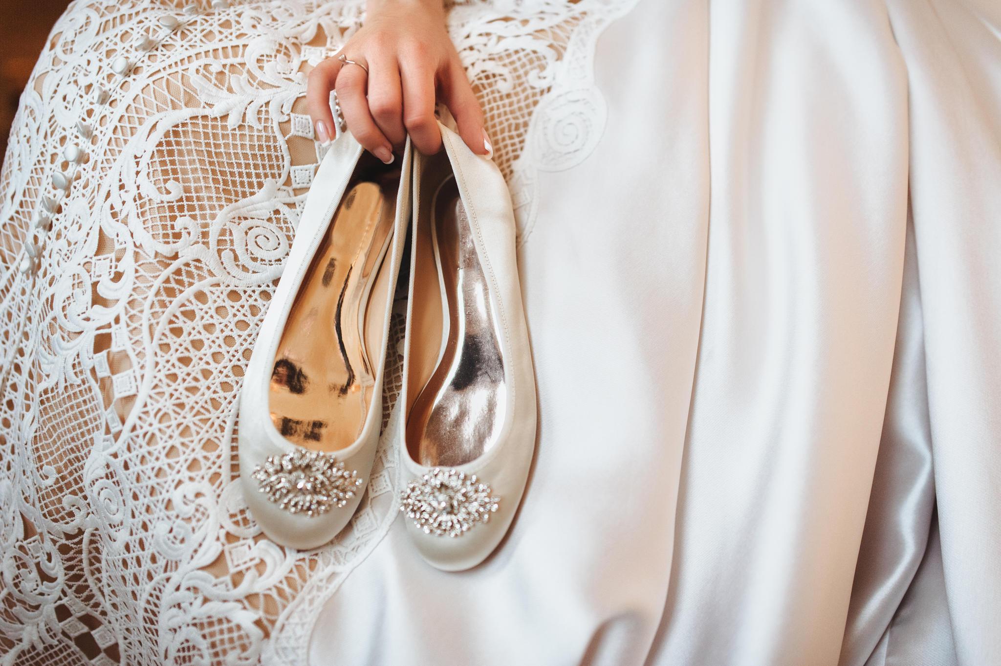 Das sind die schönsten Brautschuhe ohne Absatz
