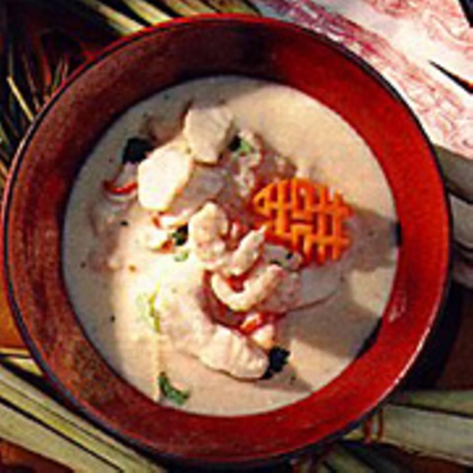 Fischsuppe mit Kokosmilch