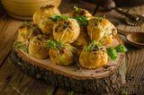 Cheddar-Kartoffeln aus dem Backofen