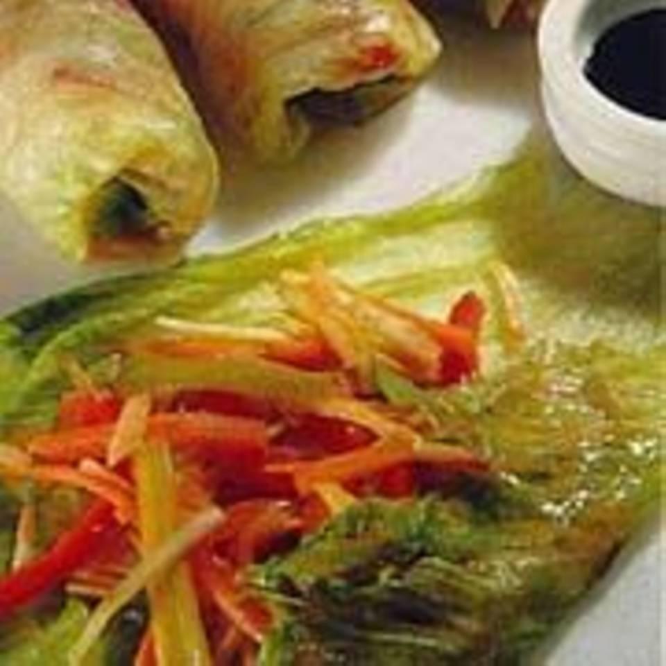 Asiatische Gemüseröllchen