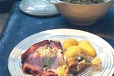 Kasseler mit Sauerkrautfüllung
