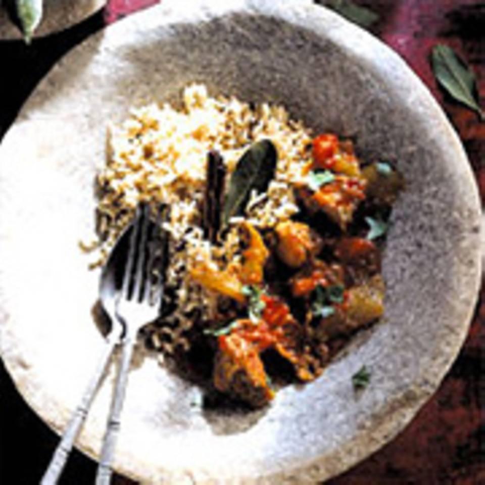 Rindfleisch-Curry mit Basmati-Vollkornreis