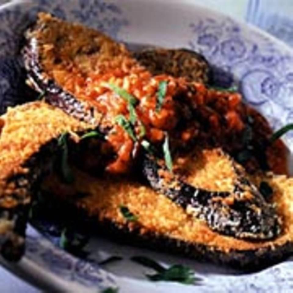Auberginenschnitzel mit Parmesan