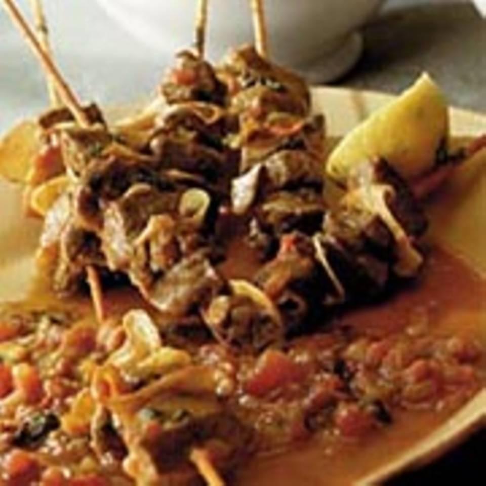 Lamm-Curry auf Spießen