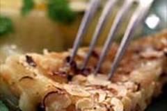 Gebackener Bergkäse mit Kräuterkartoffeln