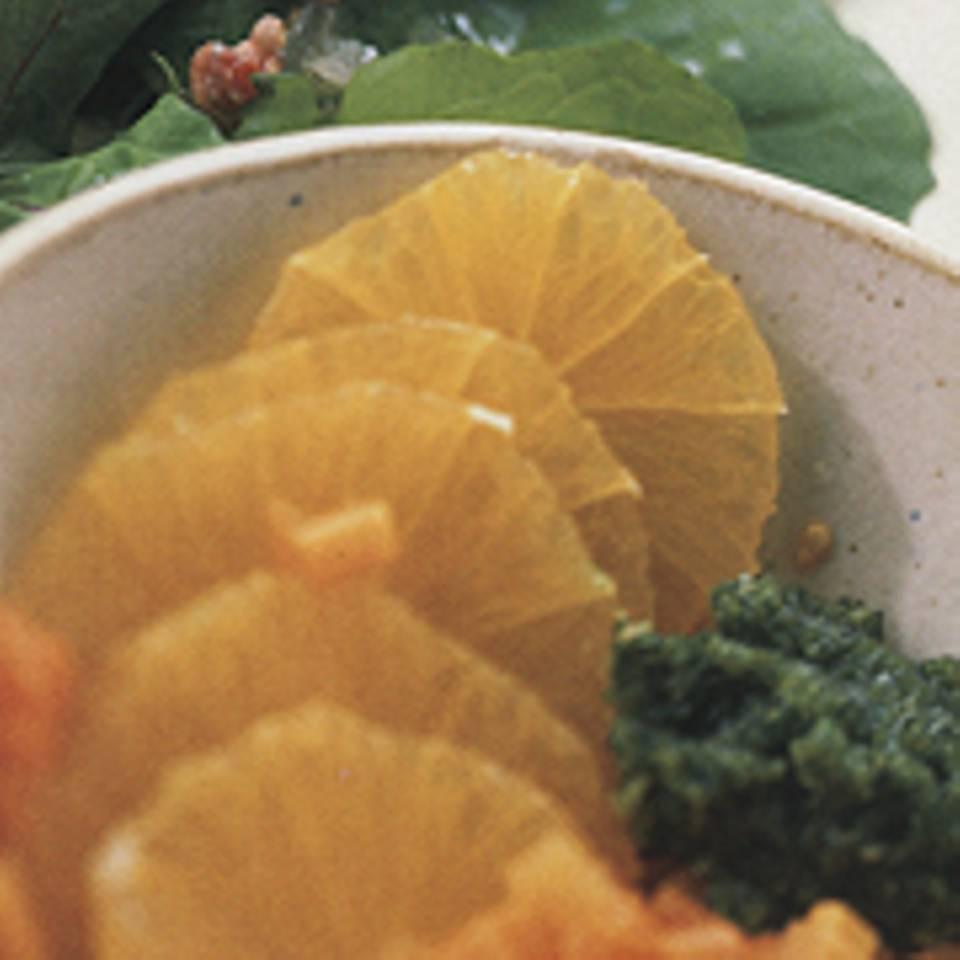 Möhren-Orangen-Salat mit Korianderpesto