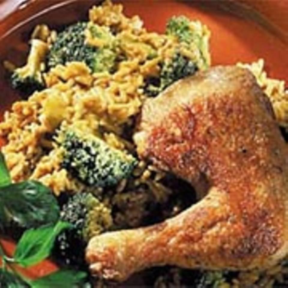 Geschmortes Hähnchen mit Curry