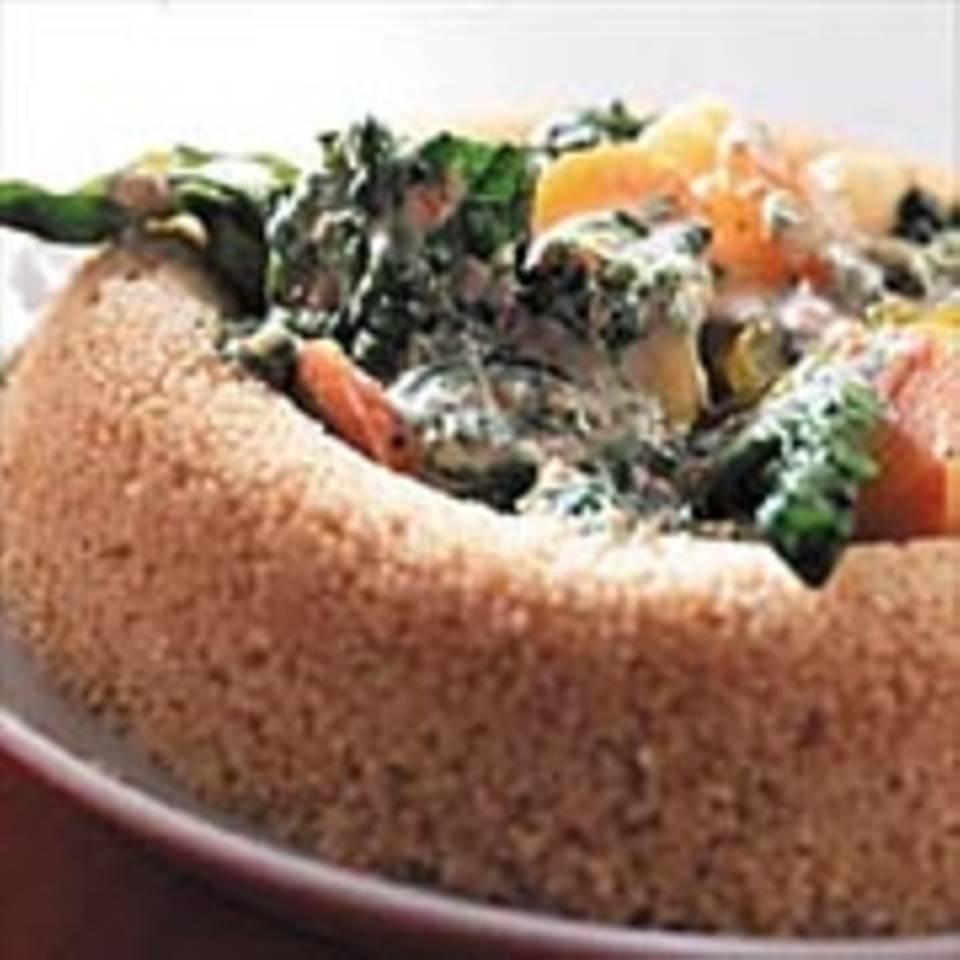 Couscous mit Mandelspinat