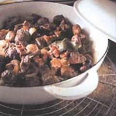 Rindfleisch-Maronen-Gulasch