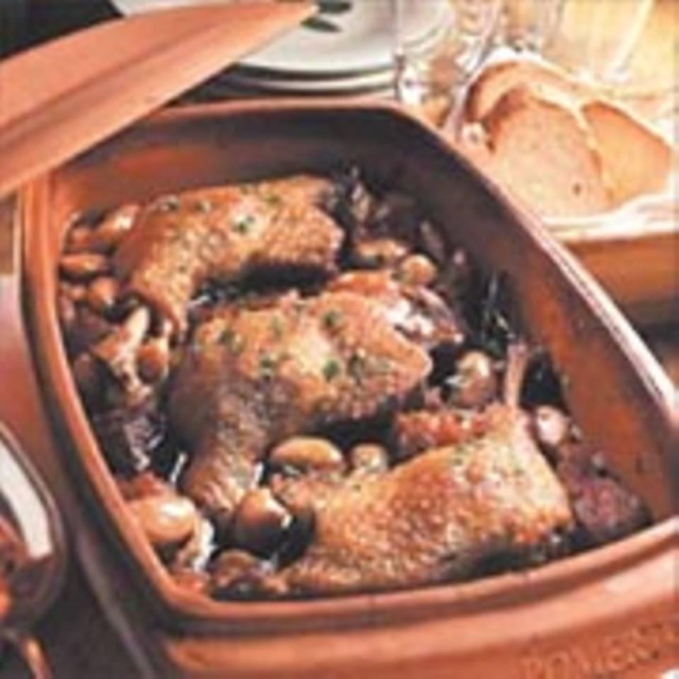 Cassoulet mit Ente aus dem Römertopf