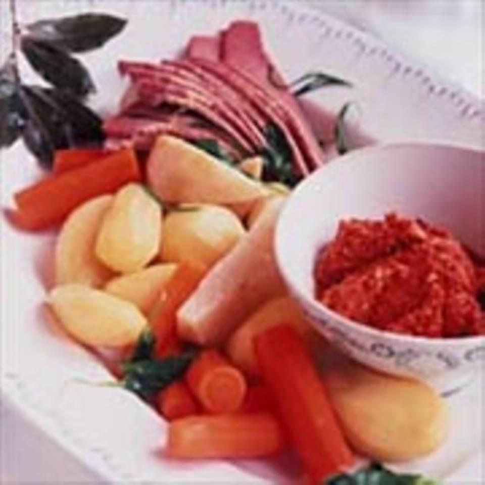 Kartoffeleintopf mit Tomatenpesto