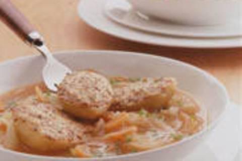 Fenchel-Eintopf mit Parmesan-Kartoffeln