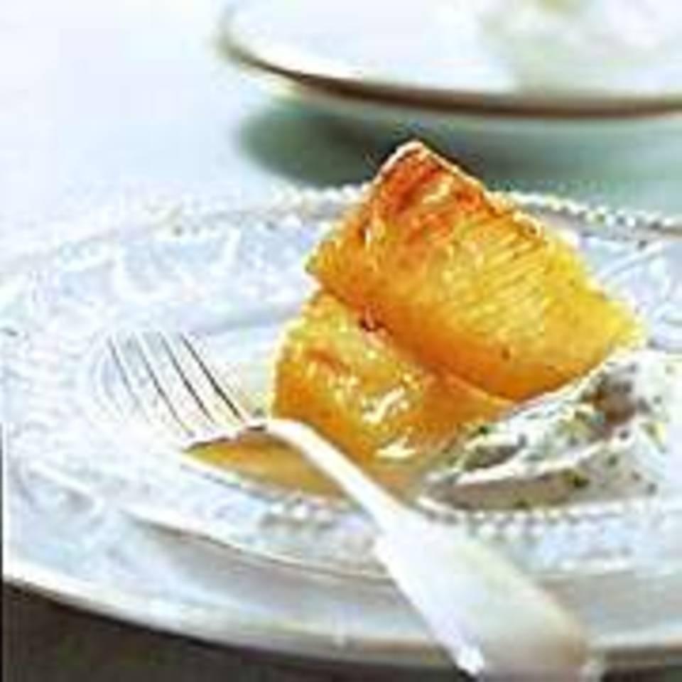 Karamellisierte Ananas mit Vanillebutter