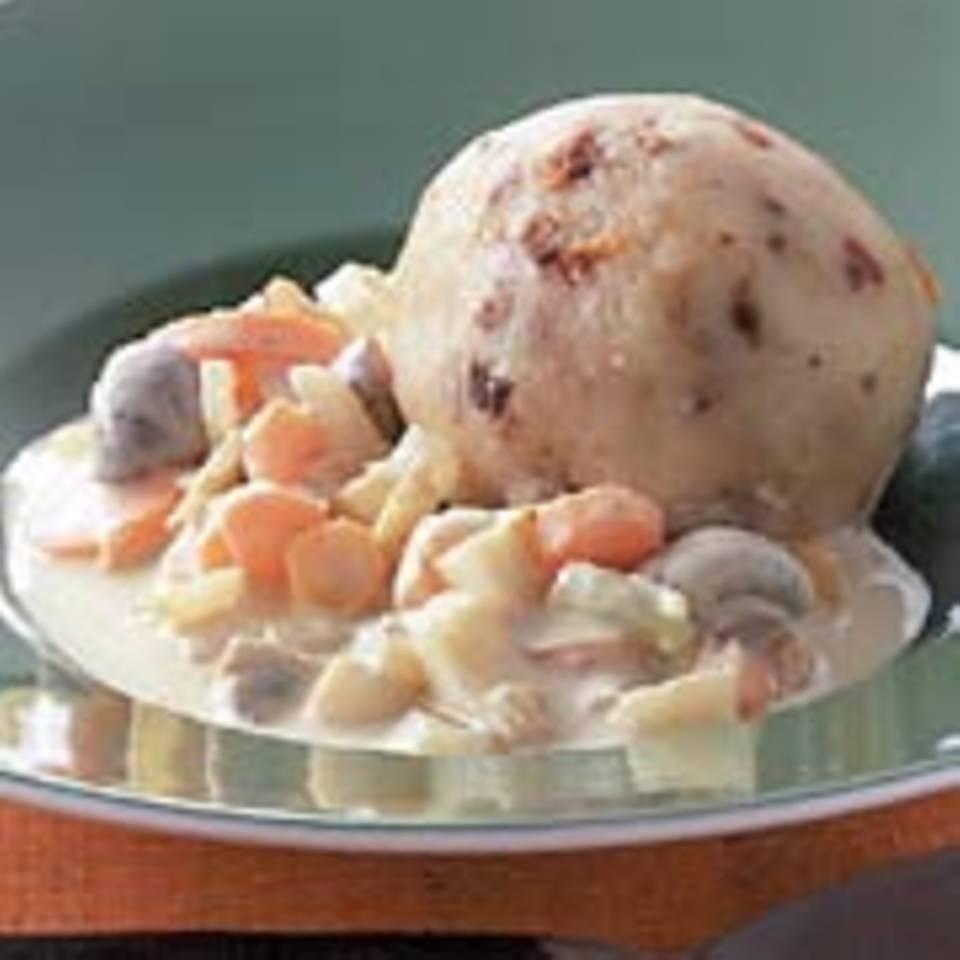 Kartoffelklöße mit Fenchelragout
