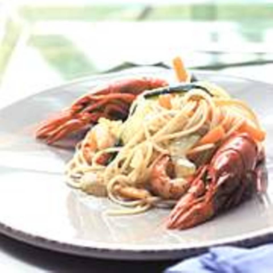 Spaghetti-Krebs-Salat