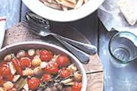 Rigatoni mit Ofengemüse