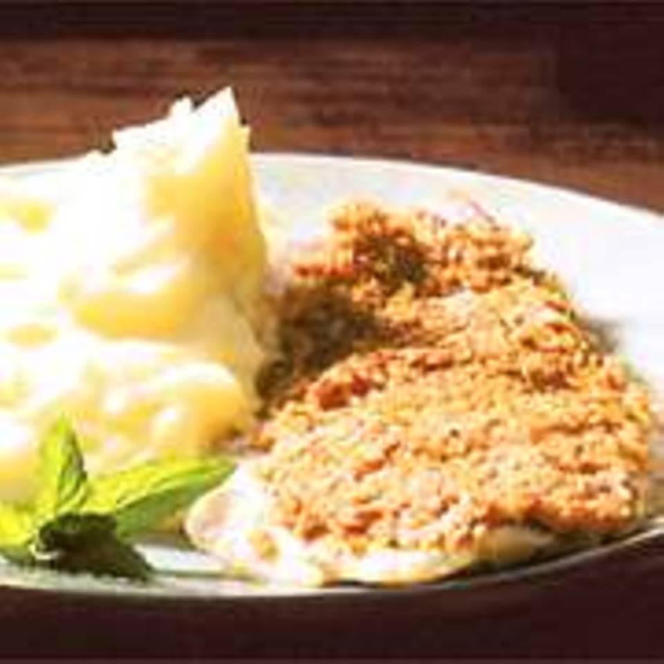 Kartoffelpüree mit Kokos-Fischfilet