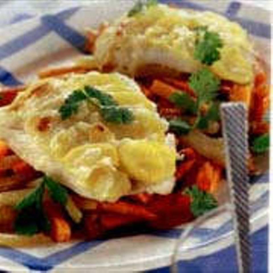Kabeljau mit Kartoffelkruste