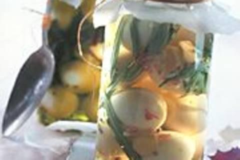 Eier in Essigmarinade