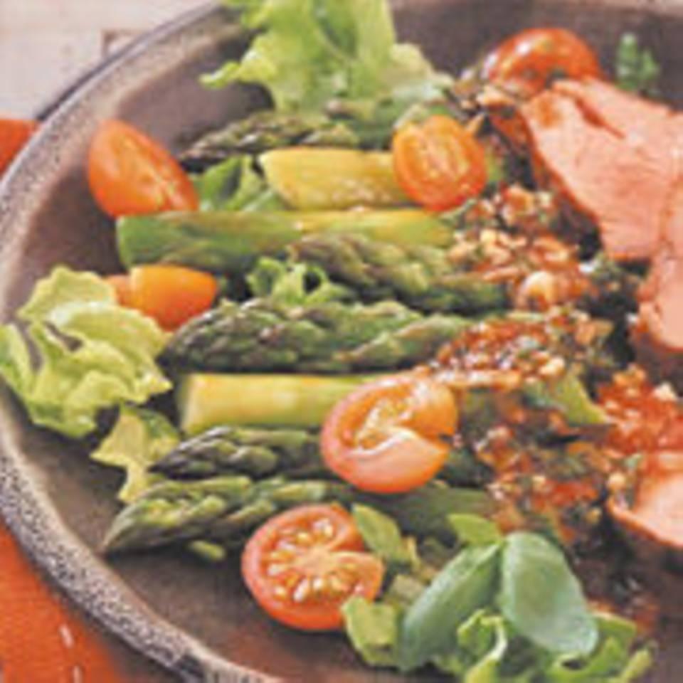 Spargel-Kopfsalat