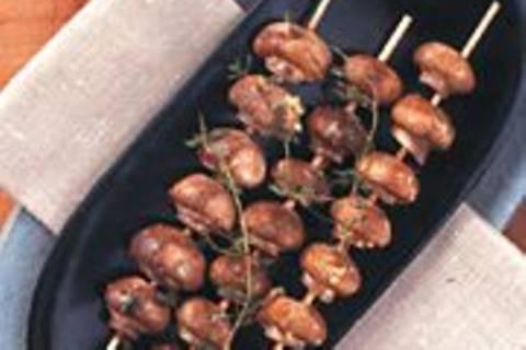 Champignonspieße mit Remouladensoße