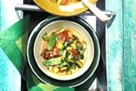 Gurken-Lamm-Curry