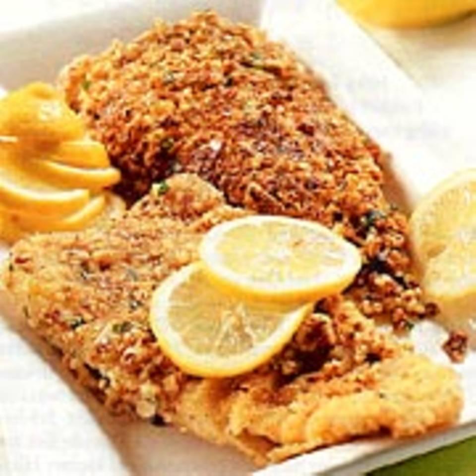 Fischfilet mit Mandelkruste