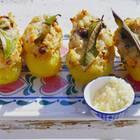 Diese gefüllten Kartoffeln enthalten eine leckere Fleisch-Kartoffel-Mischung.