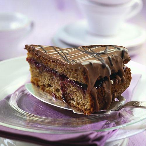 feine schokoladen nuss torte. Black Bedroom Furniture Sets. Home Design Ideas