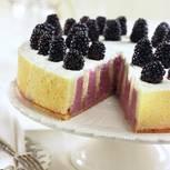 Brombeer-Zebra-Torte