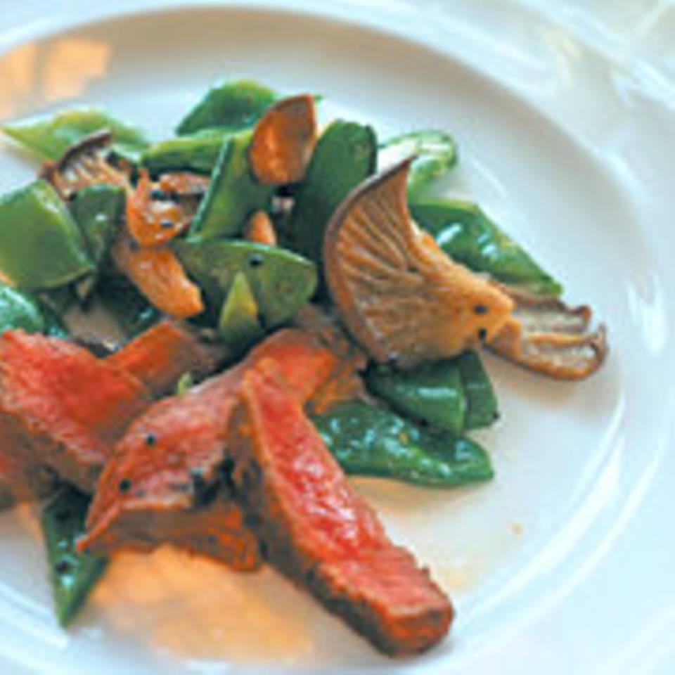 Lammfilet-Zuckerschoten-Salat