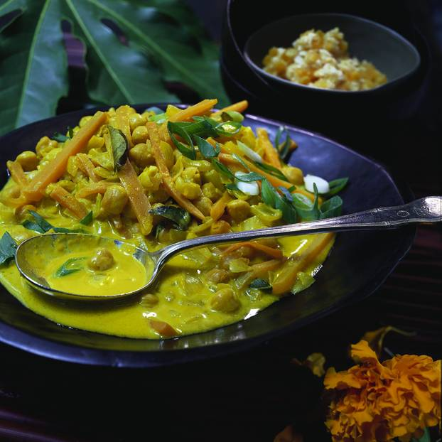 Kichererbsen-Möhren-Curry