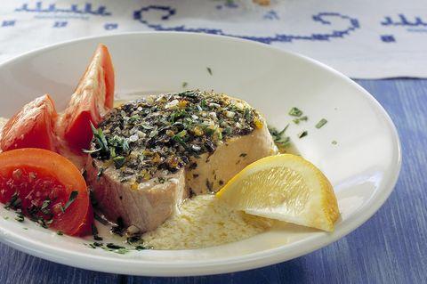 Gegrillter Tunfisch mit Knoblauchcreme