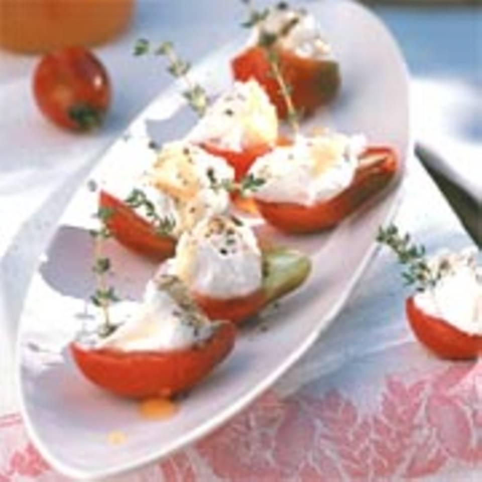 Tomaten mit Ziegenfrischkäse