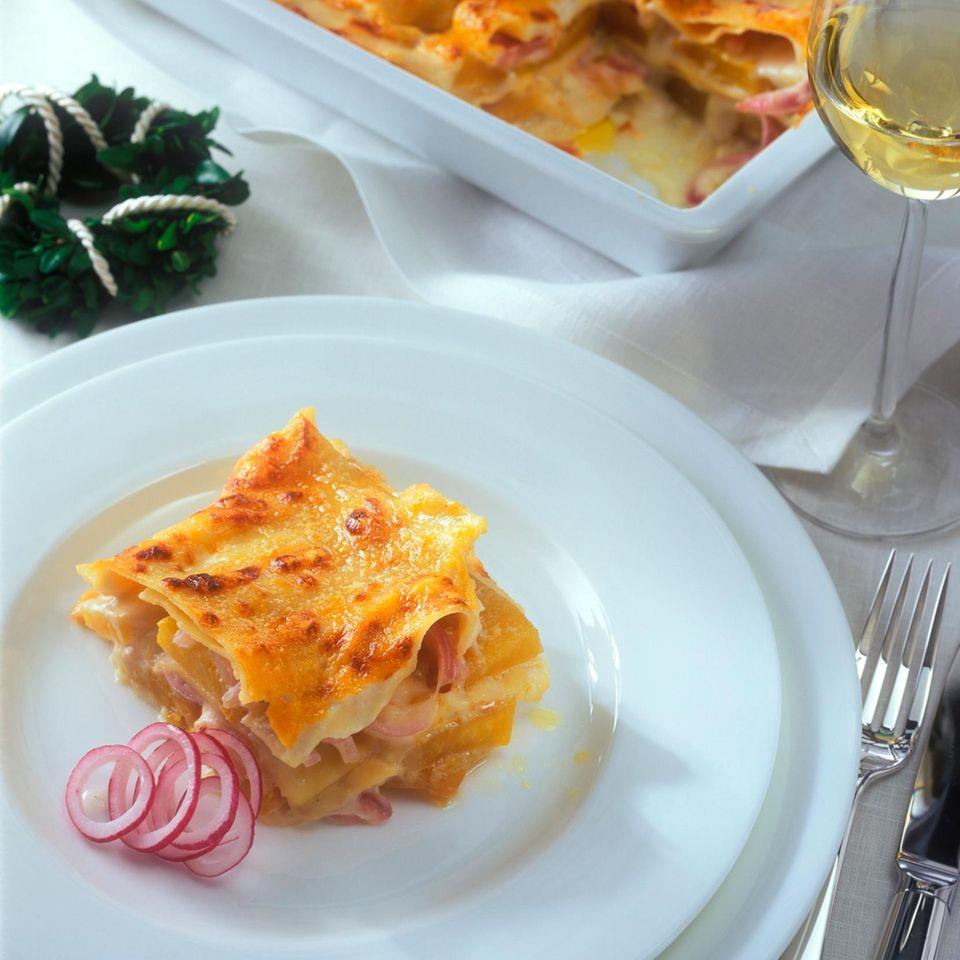 Kürbis-Lasagne mit Hokkaido