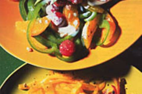 Fruchtiger Paprika-Avocado-Salat