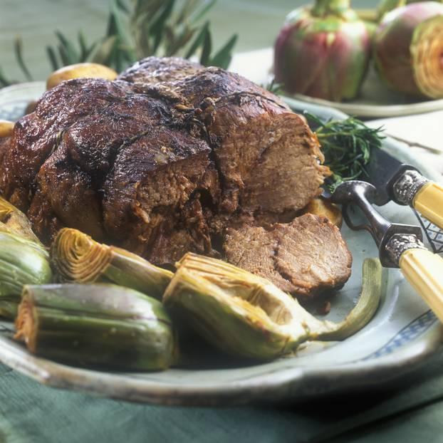 Italienische Lammkeule: Arrosto d'agnello con patatine