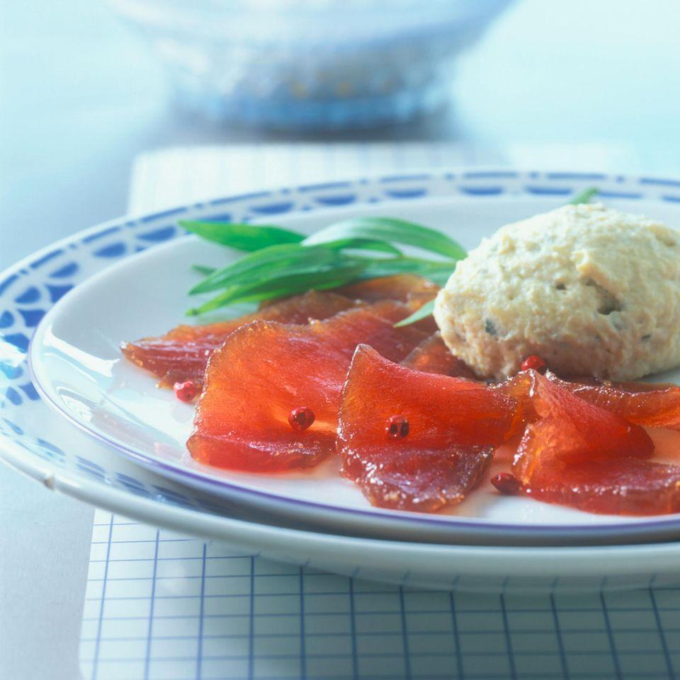 Gebeizter Thunfisch mit Artischockenmousse