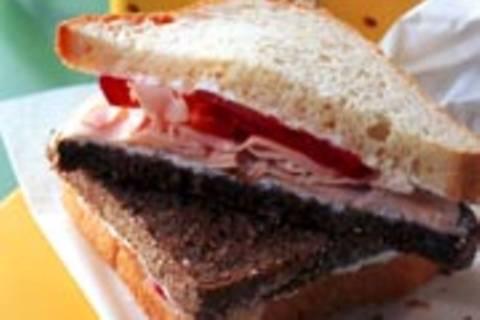 Schwarzweiß-Sandwich